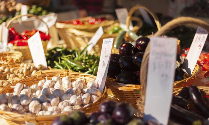 negozio prodotti alimentari vegetali