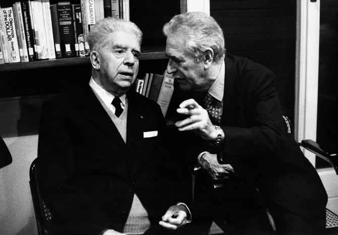 Eugenio Montale con Mario Soldati