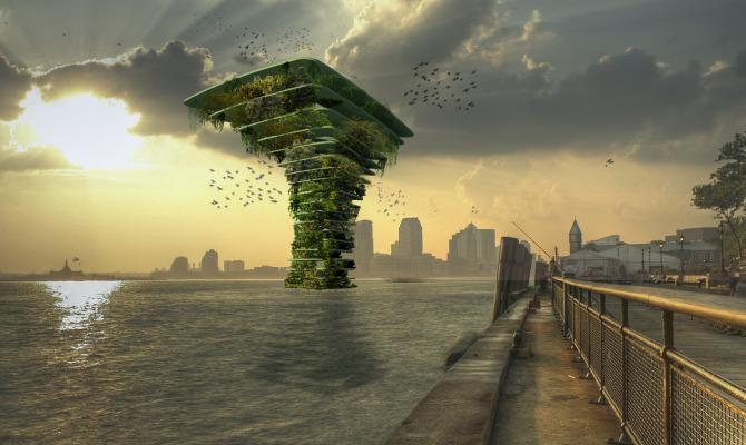 La torre acquatica che ospita la biodiversità