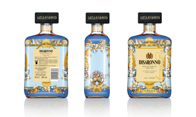 Disaronno limited edition in Versace
