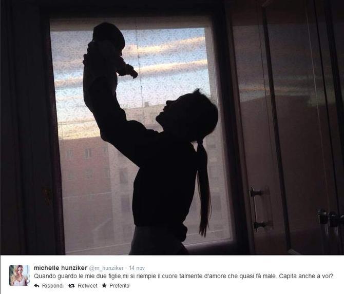 Michelle Hunziker con la figlia