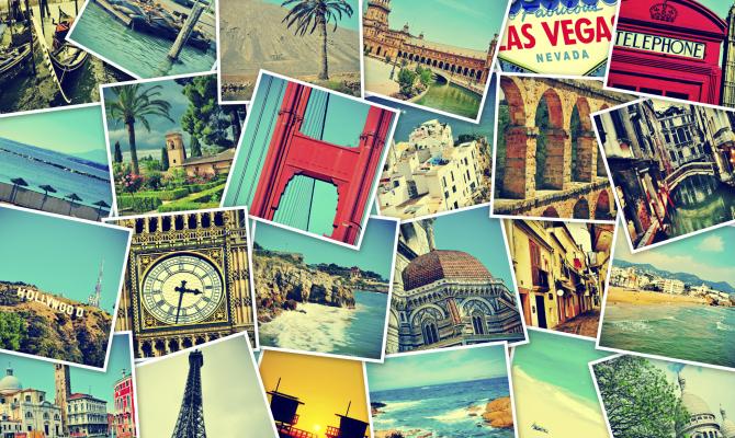 Collage foto di viaggio