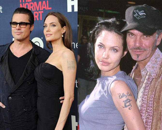 Angelina Jolie tatuaggio