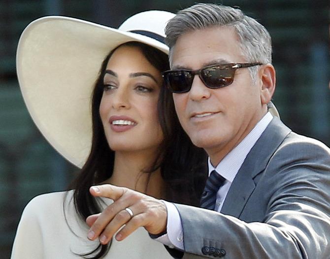 Clooney in versione marito dell'anno