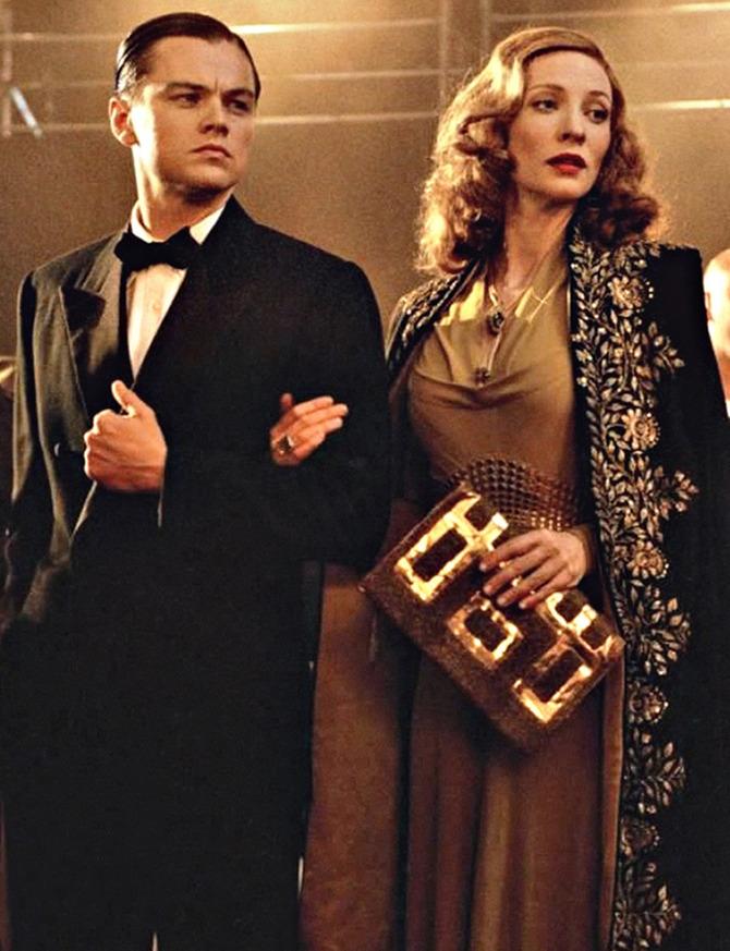 Con Cate Blanchett in  The Aviator