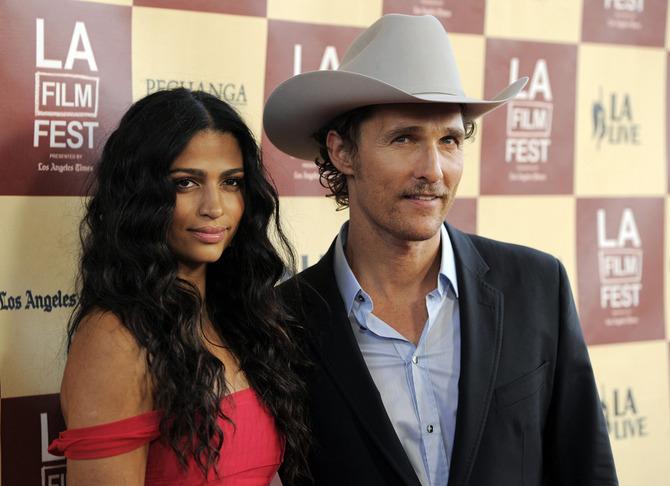 McConaughey e la moglie Camila Alves