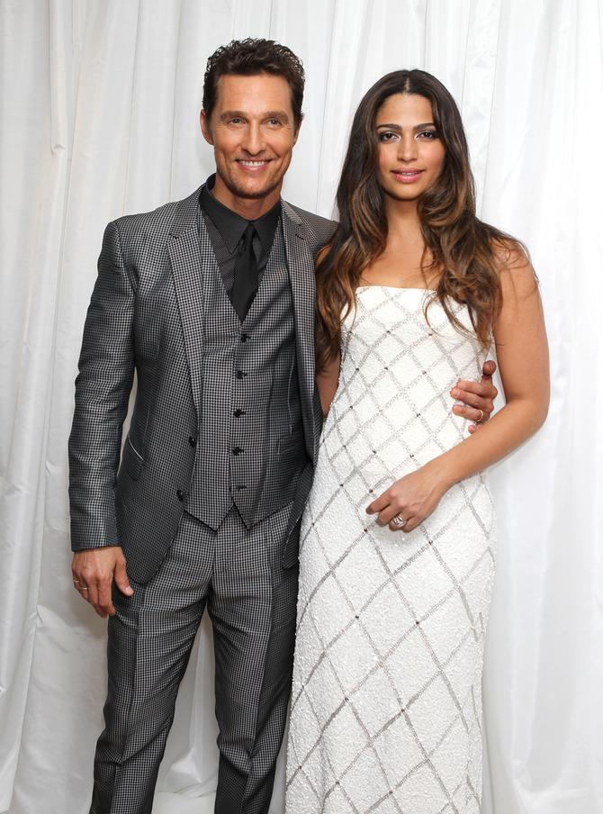 Con la moglie nel 2013