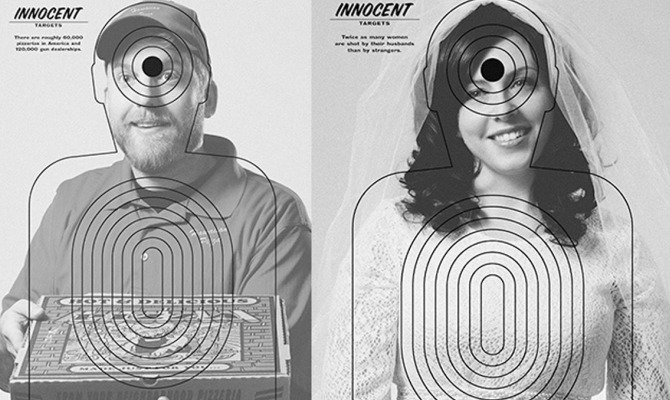 """Innocent Targets: la campagna shock per dire """"no"""" alle armi"""
