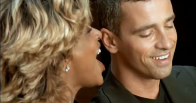 Tina Turner con Eros Ramazzotti