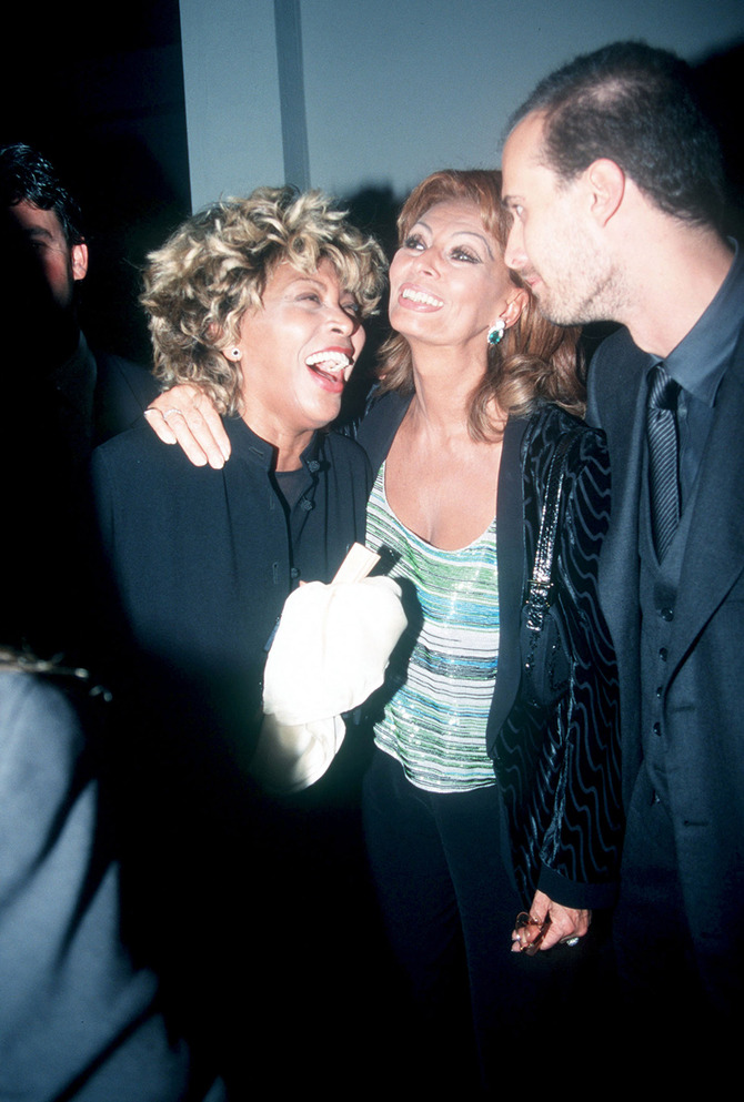 Tina Turner e Sophia Loren