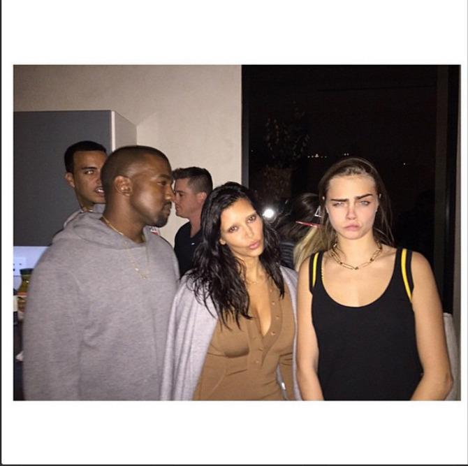 Cara Delevingne e Kim Kardashian