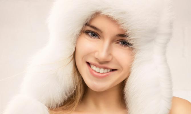 pelle, inverno, viso