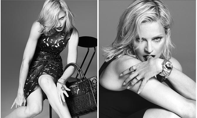 Madonna come nel '95: sexy testimonial per Versace