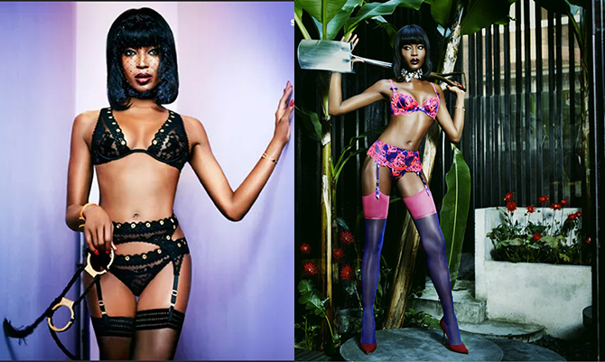 Naomi torna più sexy che mai, in lingerie