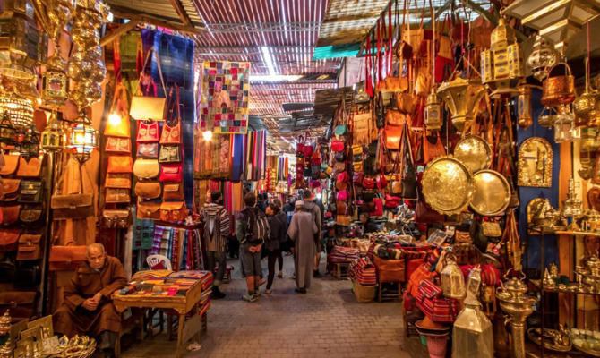 Shopping di Natale a Marrakech