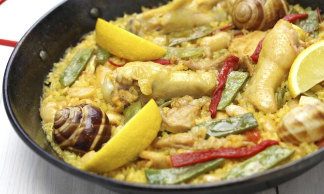 piatto tipico Valencia a base di carne e riso