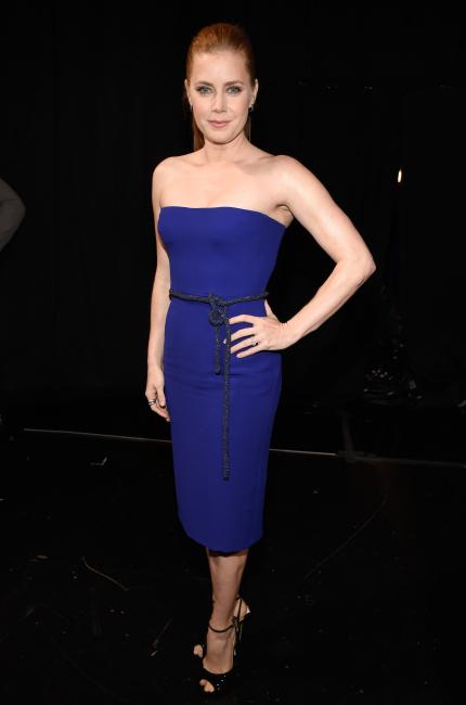 Amy Adams una rossa nel blu dipinto di blu
