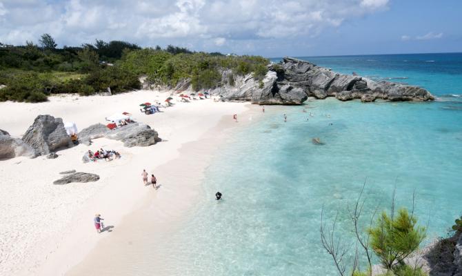 Spiaggia a Horshoe bay, Bermuda