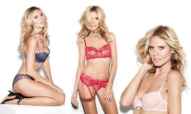Heidi Klum ritorna alla lingerie
