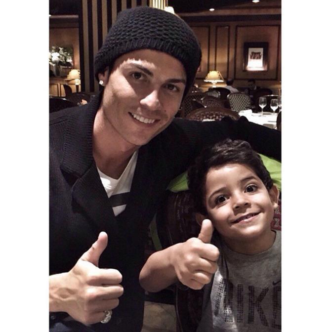 Cristiano Ronaldo e il figlio