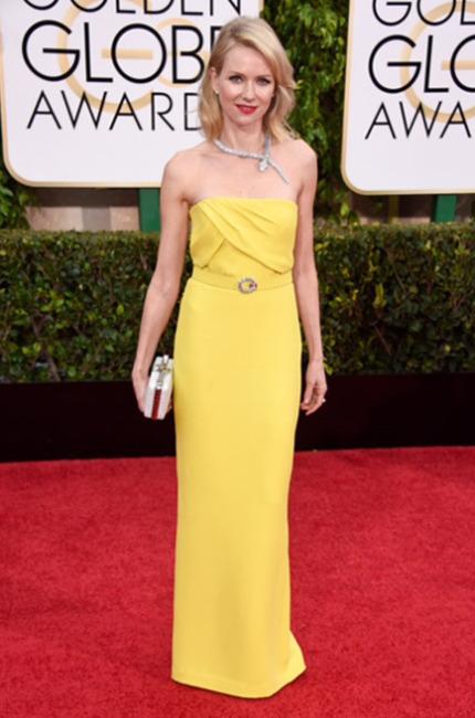 Naomi Watts in Gucci ai Golden Globe