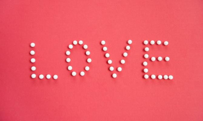 Scritta amore