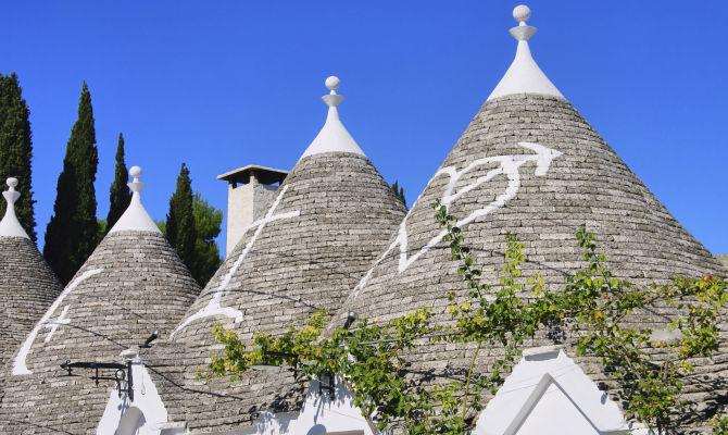 Alberobello: l'amore a forma di cono