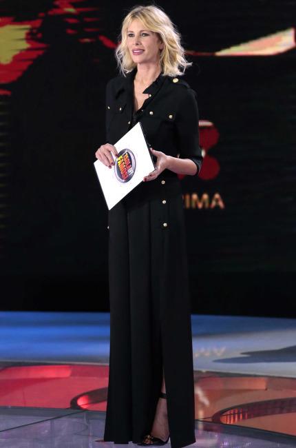 Alessia Marcuzzi in Versus Versace