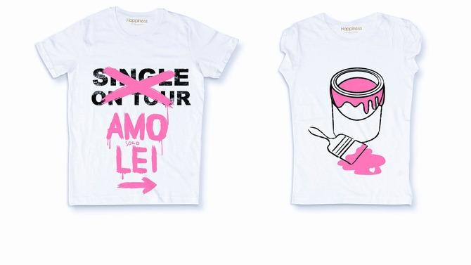 T-shirt di coppia Happiness d20b86eadf7