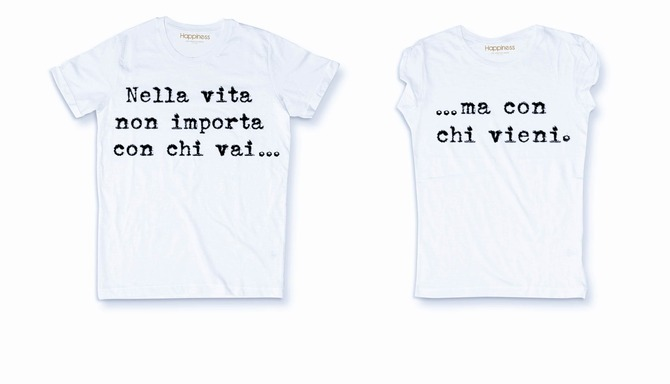 T-shirt di coppia Happiness