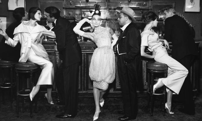 Audrey Hepburn and Art Buchwald with Simone DAillencourt Frederick Eberstadt Barbara