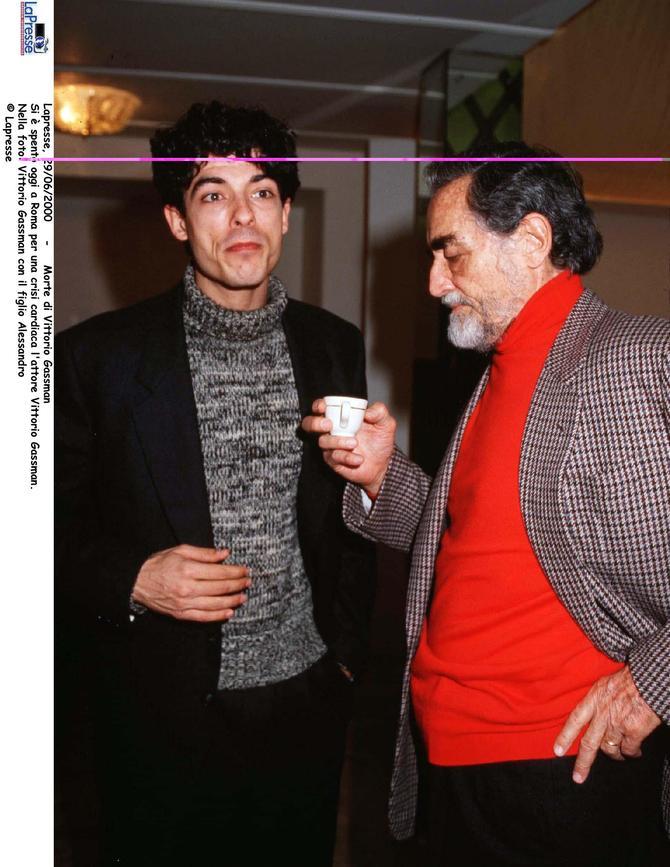 Alessandro Gassmann con Vittorio Gassmann