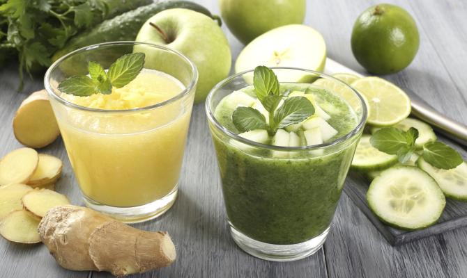 Smoothie alla pera, frullati, verdura, cetriolo, pera