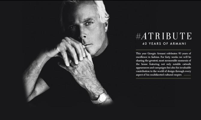 Giorgio Armani: 40 anni di stile