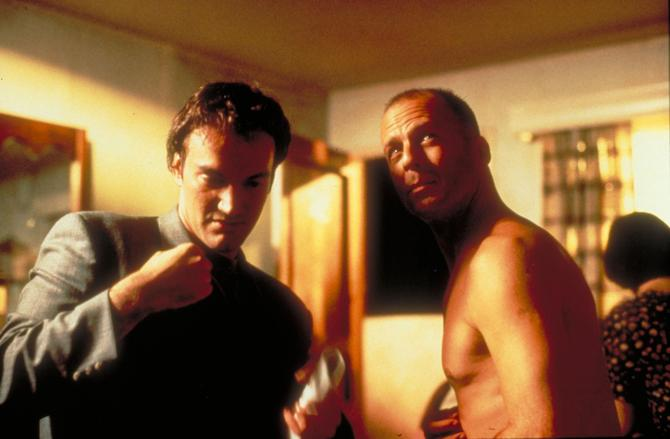 Sul set di Pulp Fiction con Quentin Tarantino