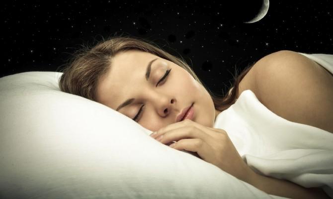 notte, dormire, donna, luna letto, sonno
