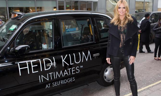 Heidi Klum seduce con il pizzo
