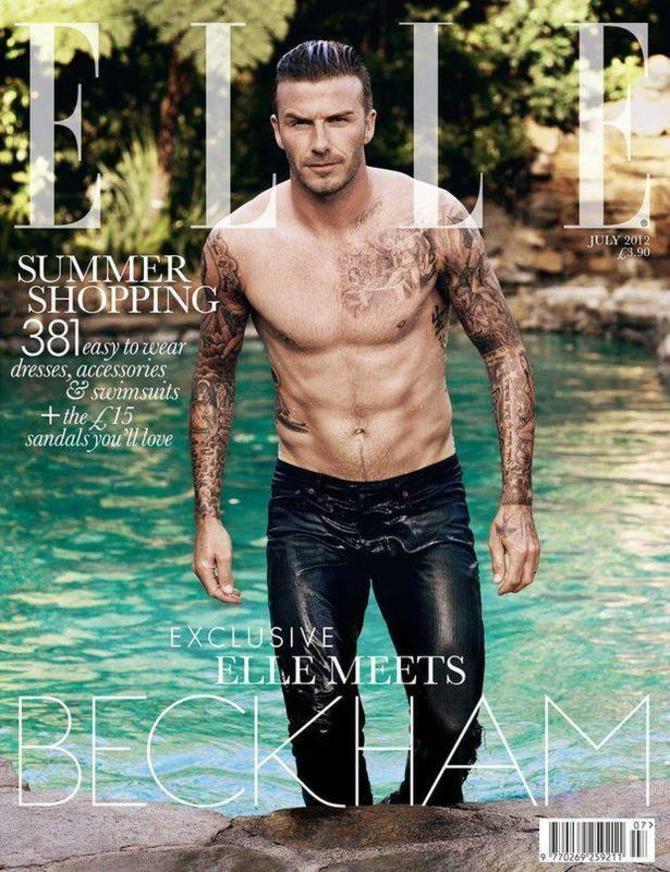 David Beckham su Elle