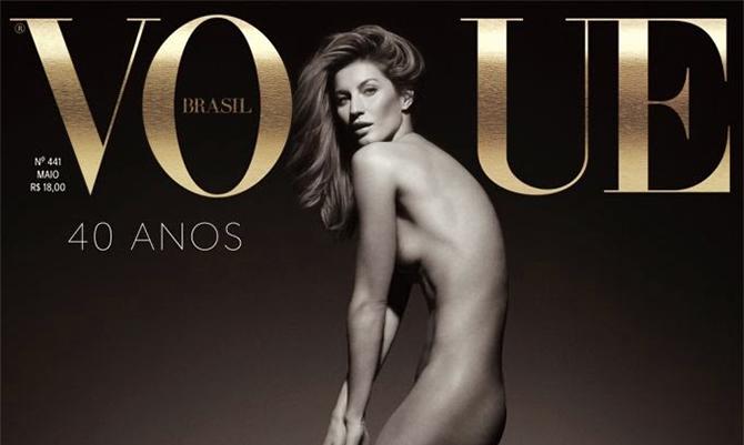 Gisele posa nuda per i 40 anni di Vogue Brasile