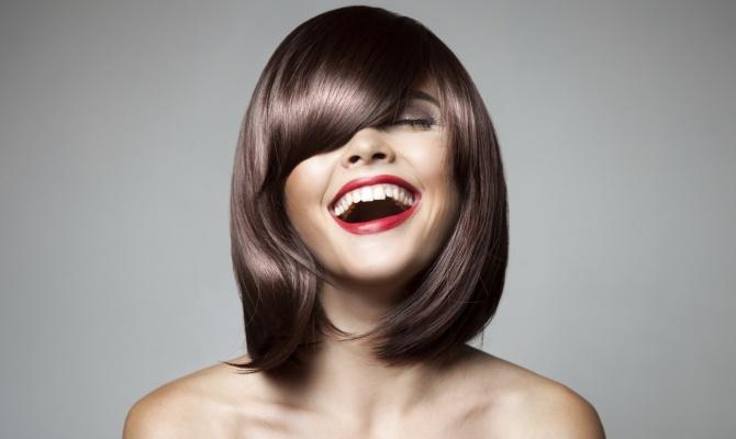 sorriso, donna, capelli