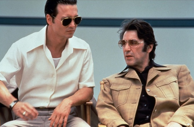 Con Johnny Depp in Donnie Brasco (1997)