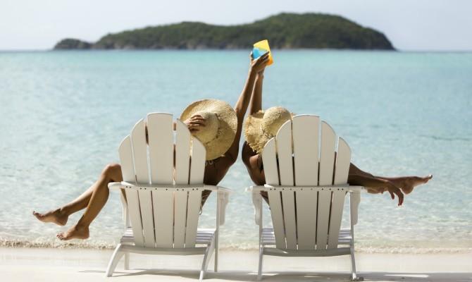 drink, spiaggia, ragazze