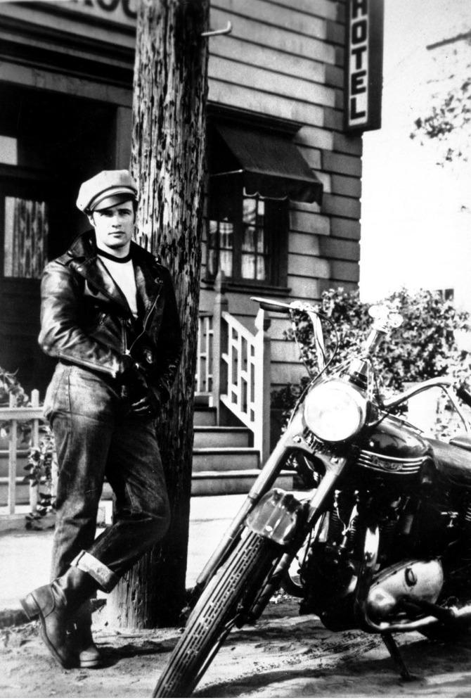 Marlon Brando moto