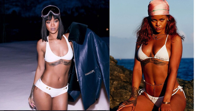 Rihanna in costume