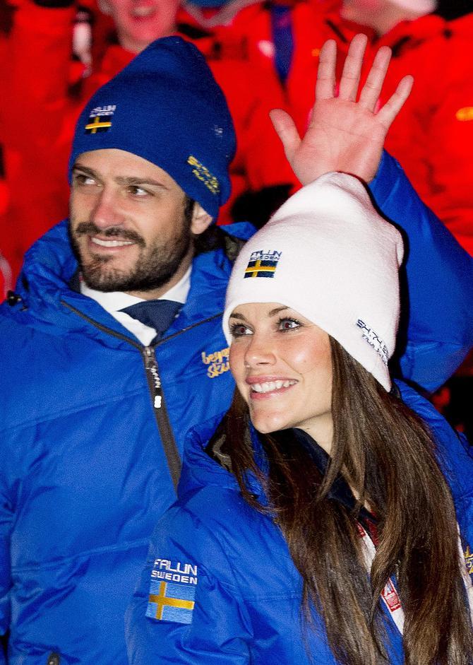 Sofia Hellqvist e Carl Philip di Svezia