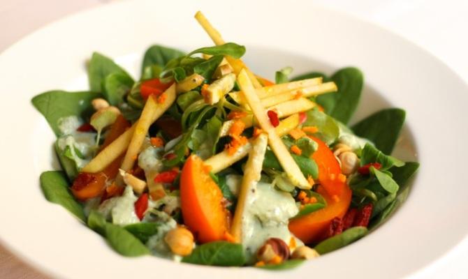 Insalata di spinacino ed albicocche