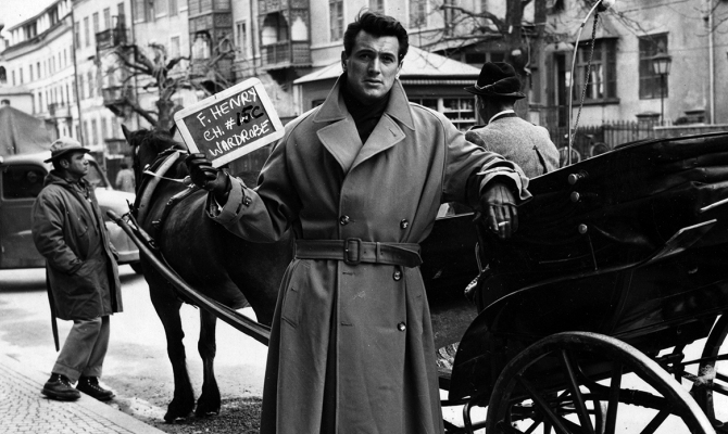 Gary Cooper sul set di Addio alle armi
