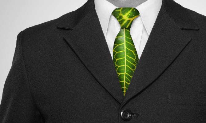 L'uomo moderno? Veste green
