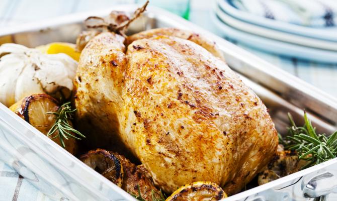carne di pollo cotta al forno