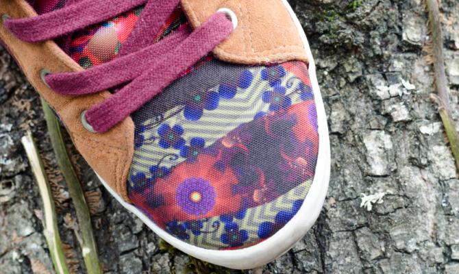 Scarpe a fiori